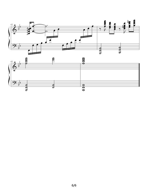 [钢琴曲谱]经典重温——梁祝(化蝶)图片