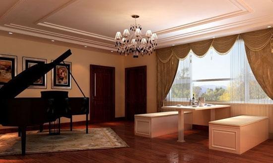家居钢琴墙面欧式装修图片大全