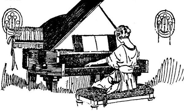 钢琴演奏矢量图