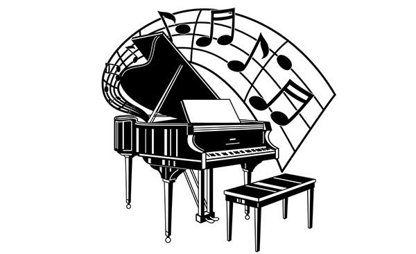 古筝乐器矢量图
