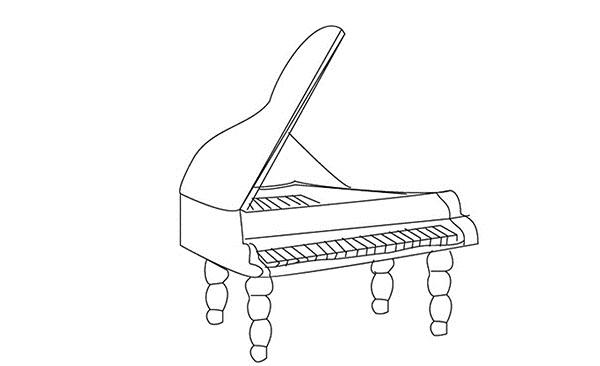 钢琴手绘简笔画