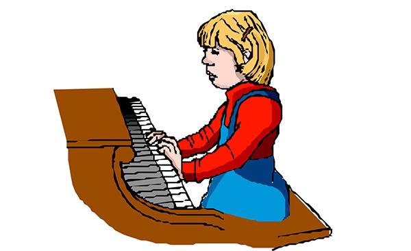 会弹钢琴的妈妈和不会弹钢琴图片