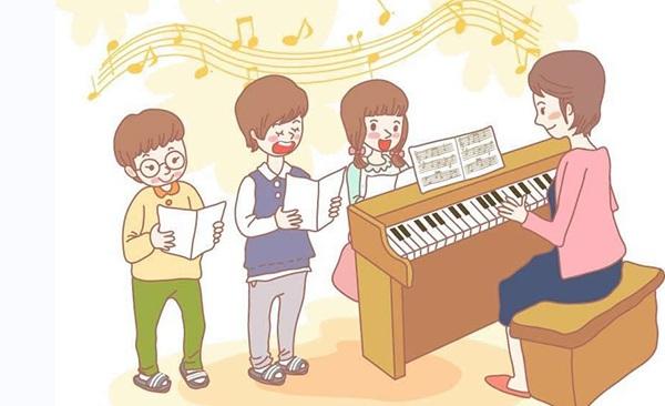 老师和孩子献爱心卡通