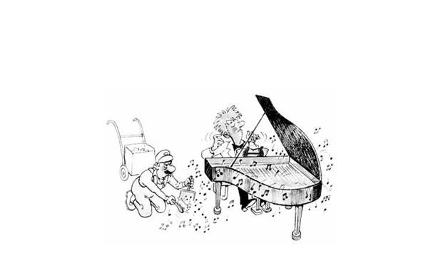 手绘钢琴顶视图