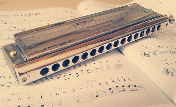 十孔口琴又叫布鲁斯口琴,经常在美国西部片里能听到的那种口琴声图片