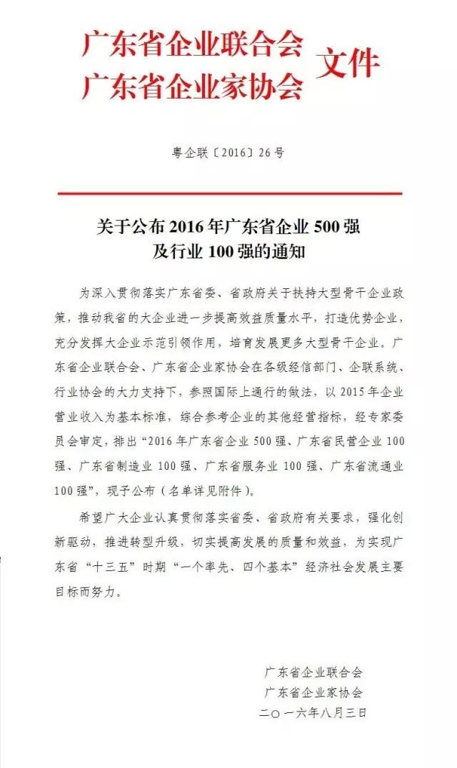 2016年广东省企业500强珠江钢琴集团名列其中