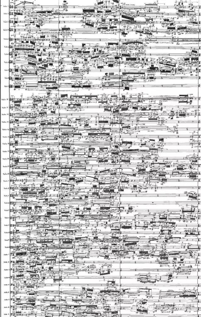 笛和人声,图中各种跨越声部的音符,精确到让演奏员没有发挥空间