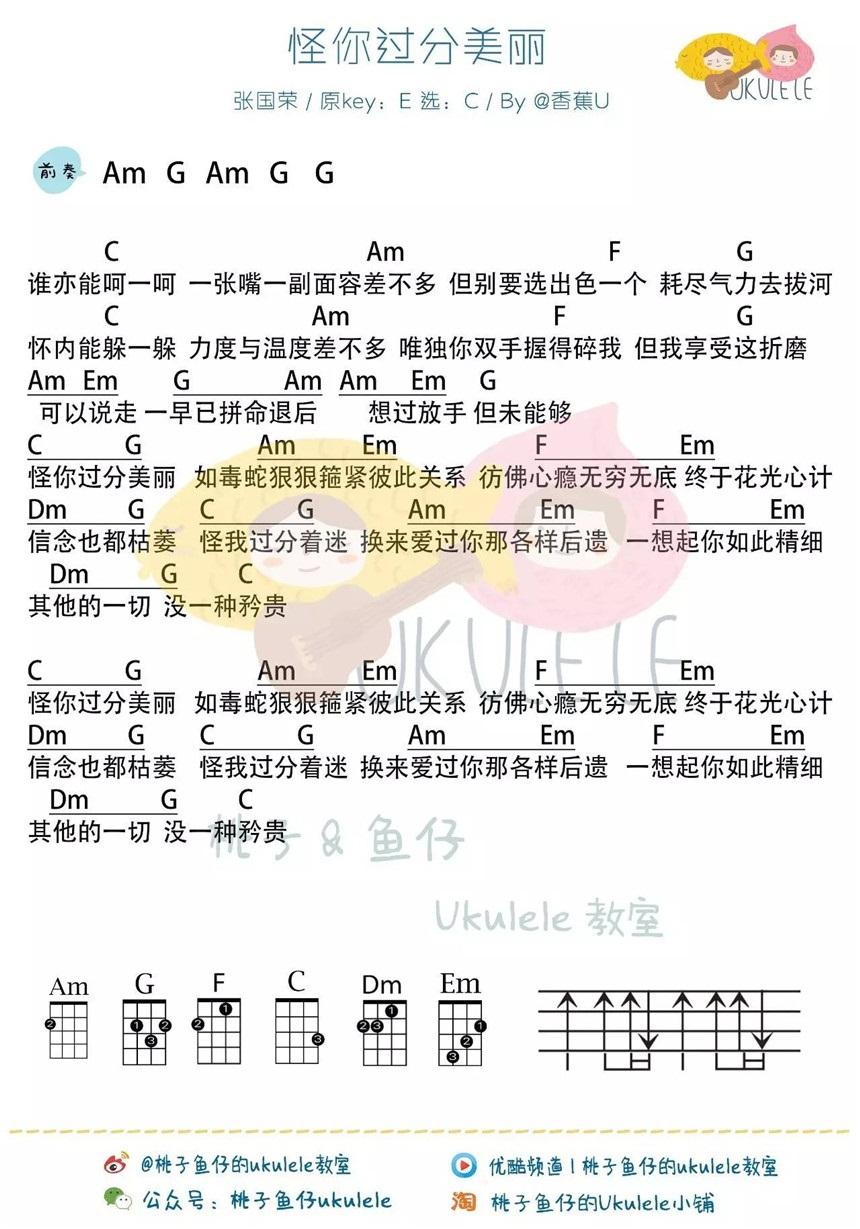 张国荣丨尤克里里曲谱辑