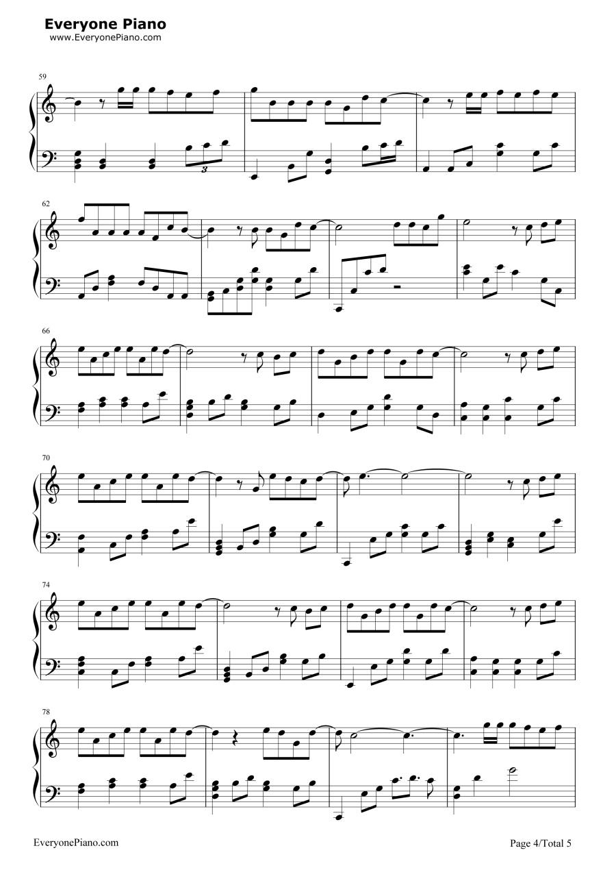 演员钢琴谱,双手简谱和五线谱完全对应