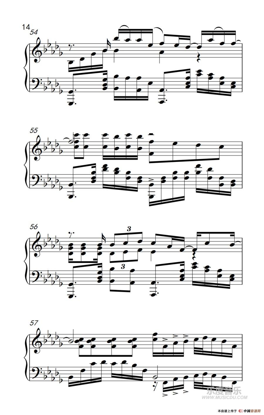 薛之谦 我好像在哪见过你 钢琴谱
