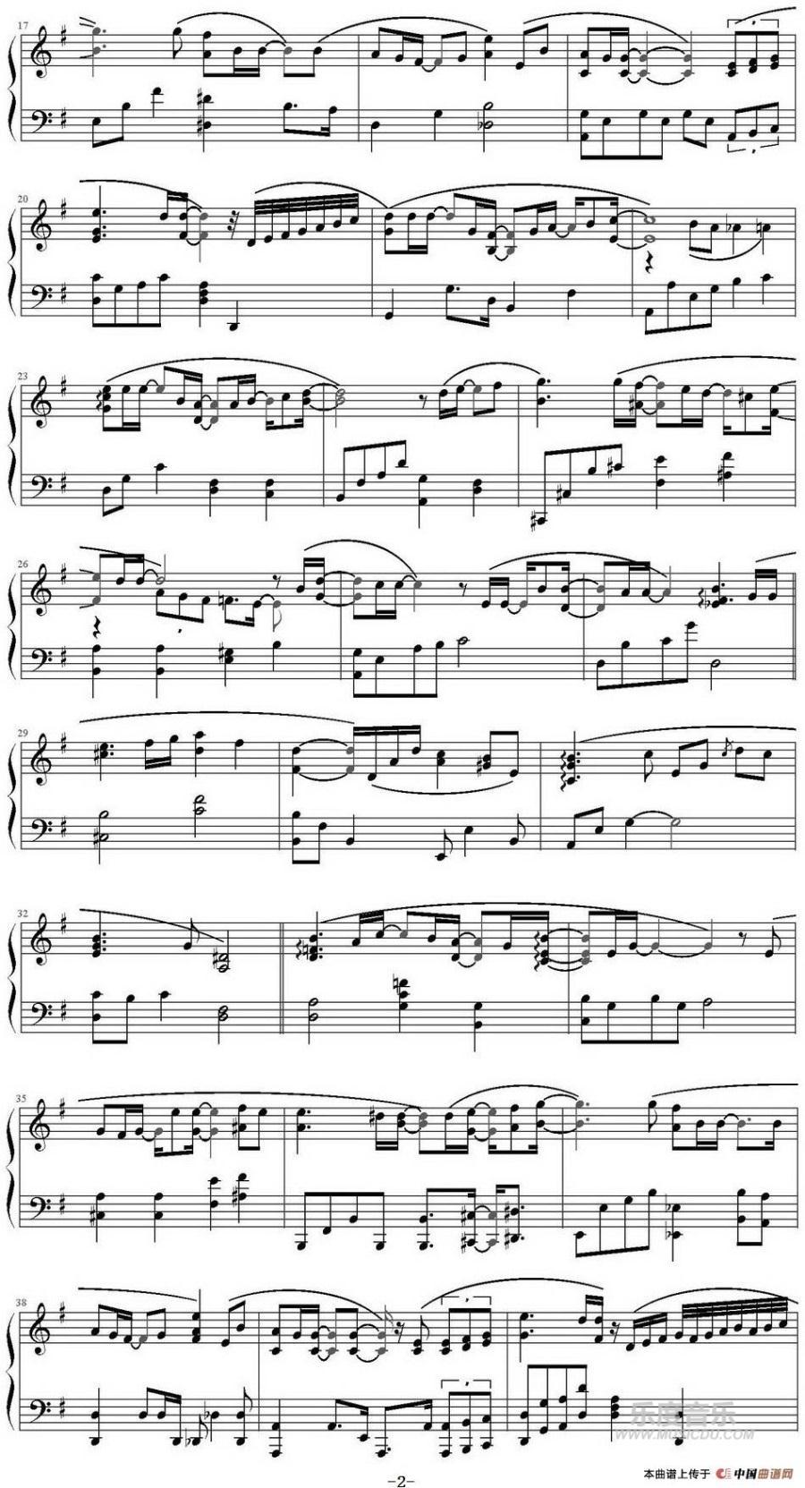 曲谱网 钢琴谱 来自星星的你 插曲《你家门前》